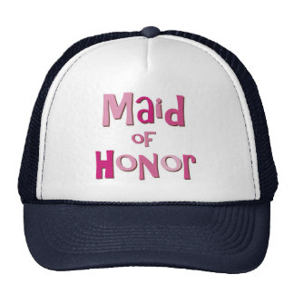 Maid of Honor Pink Brown Trucker Hat