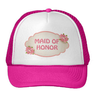 Maid Of Honor (pink floral) Cap