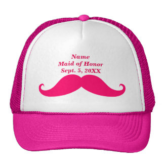Maid of Honor Pink Mustache Trucker Hat
