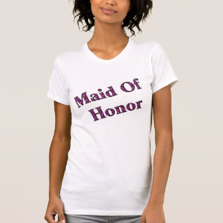 Maid Of Honor Pink Zebra Wedding Party T Shirt