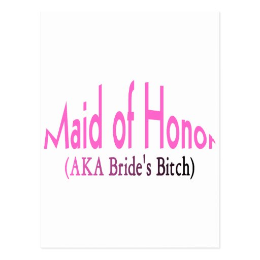 Maid Of Honor Post Cards