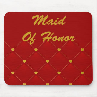 Maid Of Honor (red/gold) Mouse Pad