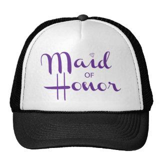 Maid of Honor Retro Script Cap