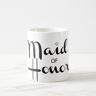 Maid of Honor Retro Script Coffee Mug