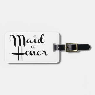 Maid of Honor Retro Script Luggage Tags