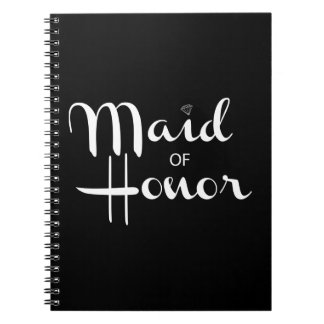 Maid of Honor Retro Script Note Book
