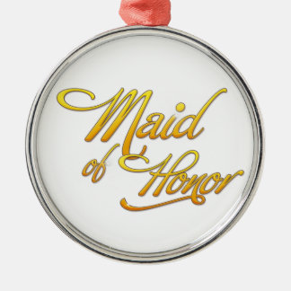 Maid Of Honor Silver-Colored Round Decoration