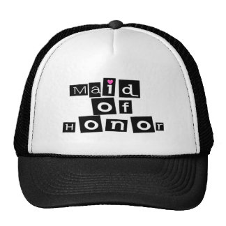 Maid of Honor (Sq Blk) Cap