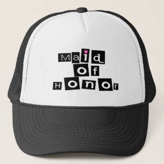 Maid of Honor (Sq Blk) Trucker Hat