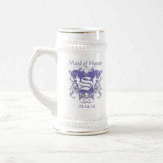 Maid of Honor Stein Wedding Vintage Lions Beer Steins