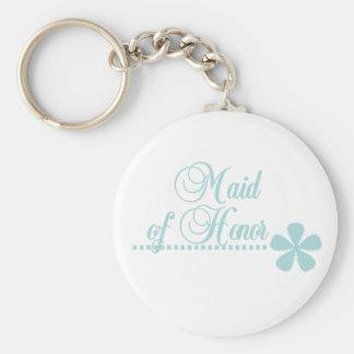 Maid of Honor Teal Elegance Key Chain