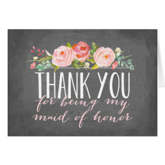 Maid of Honor Thank You | Bridesmaid Note Card