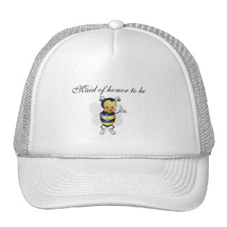 Maid of honor to be mesh hat