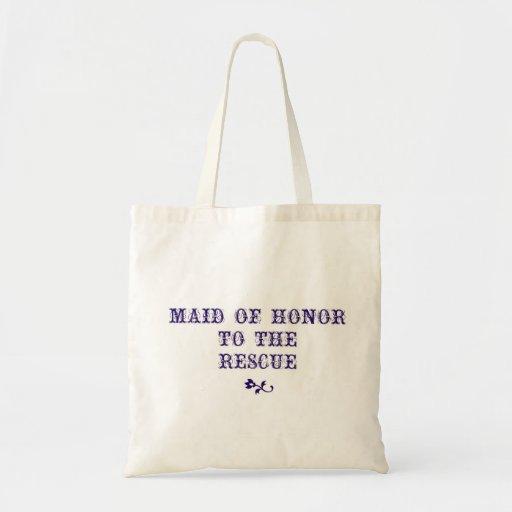 Maid of Honor Tote Navy Tote Bag