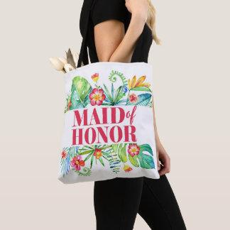 Maid of Honor Tropical Beach Destination Wedding Tote Bag