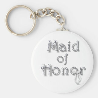 ♥ Maid of Honor ♥ Very Pretty Design ♥ Basic Round Button Key Ring