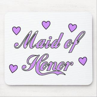 Maid of Honor Wedding Hearts Mouse Pad