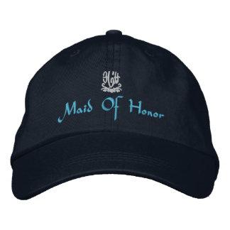 Maid Of Honor Wedding I Navy Embroidered Baseball Caps