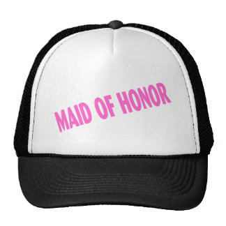 Maid of Honor Wedding Pink Cap