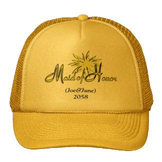 Maid of Honor Yellow Cap