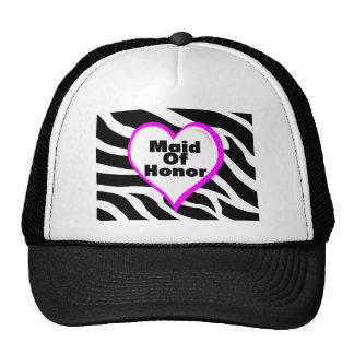 Maid Of Honor Zebra Stripes Cap