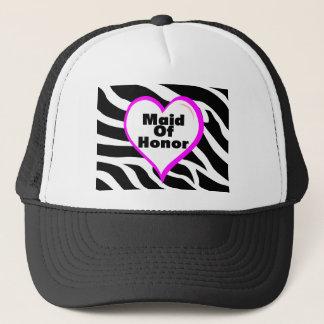 Maid Of Honor Zebra Stripes Trucker Hat