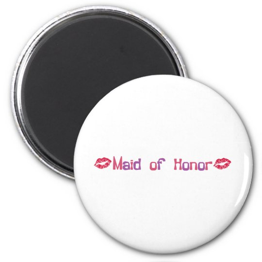 Maid of Honour 6 Cm Round Magnet