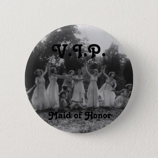Maid of Honour Bachelorette Party Flair 6 Cm Round Badge
