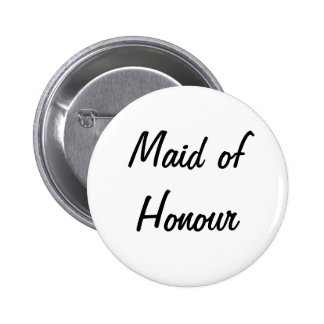 Maid of Honour Badge Pinback Buttons