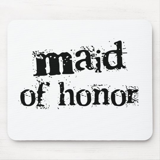 Maid of Honour Black Text Mouse Mat
