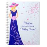 Maid of Honour Bridesmaid Custom Journal Notebook