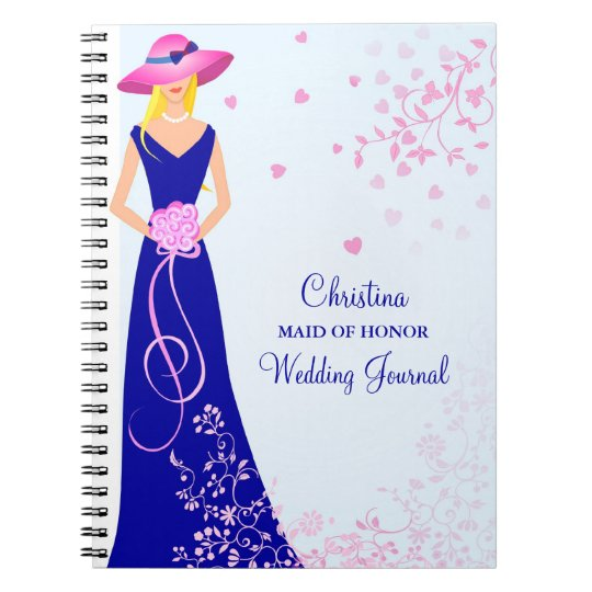 Maid of Honour Bridesmaid Custom Journal Notebook