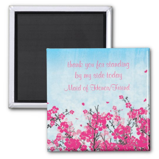 Maid of Honour/Bridesmaid Thank You  Magnet