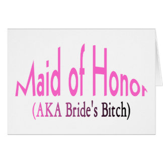 Maid Of Honour Cards