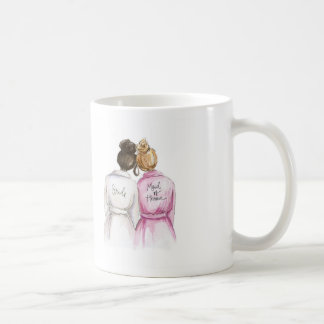 Maid of Honour? Dark Br Bun Bride Dk Bl Bun Maid Basic White Mug