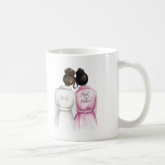 Maid of Honour? Dk Br Bun Bride Bk Bun Maid Basic White Mug