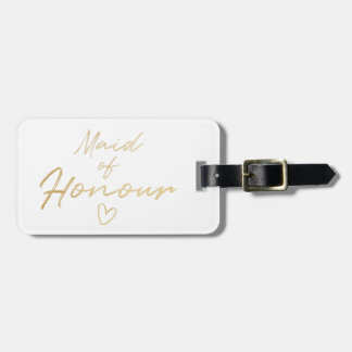 Maid of Honour - Gold faux foil Luggage Tag