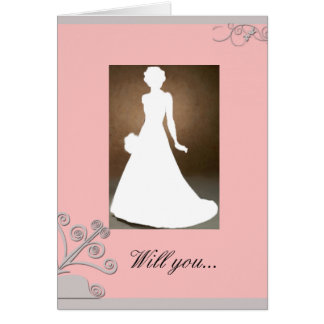 Maid of Honour invitation card