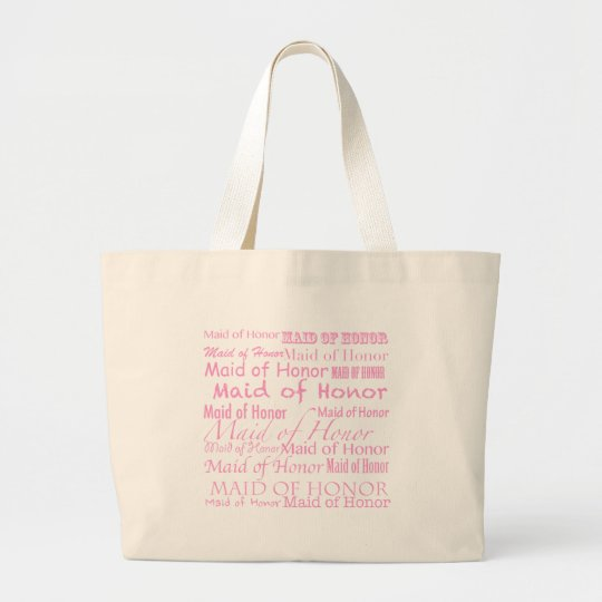 Maid of honour large tote bag