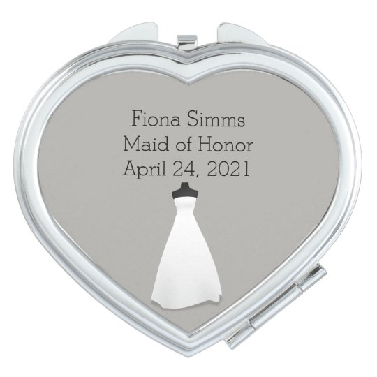 Maid of Honour or Bridesmaid's Heart Compact Vanity