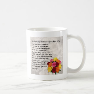 Maid of Honour Poem - Flowers design Basic White Mug