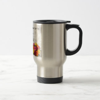 Maid of Honour Poem - Flowers design Stainless Steel Travel Mug