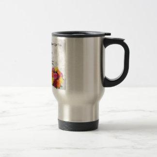 Maid of Honour Poem - Flowers design Stainless Steel Travel Mug