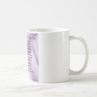Maid of Honour Poem - Lilac Silk design Basic White Mug