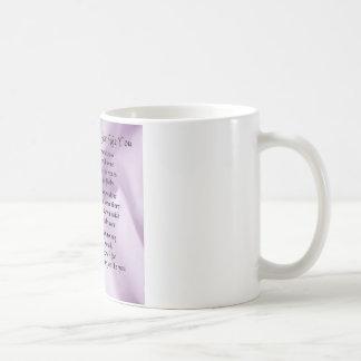 Maid of Honour Poem - Lilac Silk design Basic White Mug