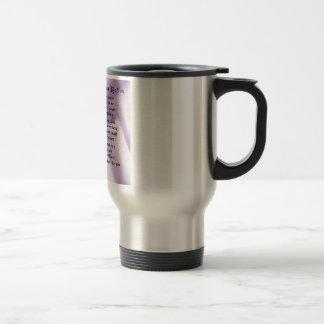 Maid of Honour Poem - Lilac Silk design Stainless Steel Travel Mug