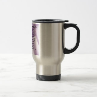 Maid of Honour Poem - Lilac Silk design Travel Mug