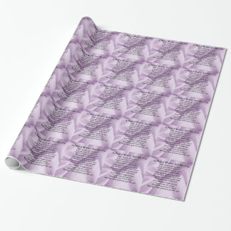 Maid of Honour Poem - Lilac Silk design Wrapping Paper