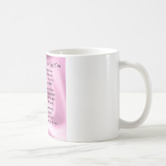 Maid of honour poem - Pink silk Basic White Mug
