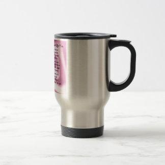 Maid of honour poem - Pink silk Stainless Steel Travel Mug